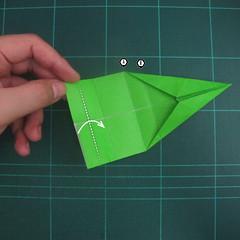 การพับกระดาษเป็นรูปแรด (Origami Rhino) 014