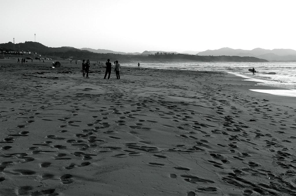 footprints|夕日ケ浦海岸