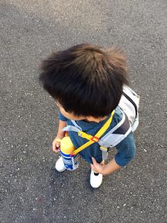 プラレールの幼稚園水筒