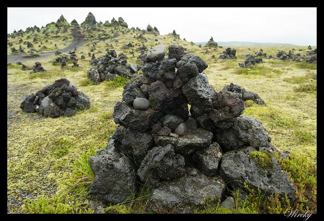 Montones de piedra de Laufskálavarda