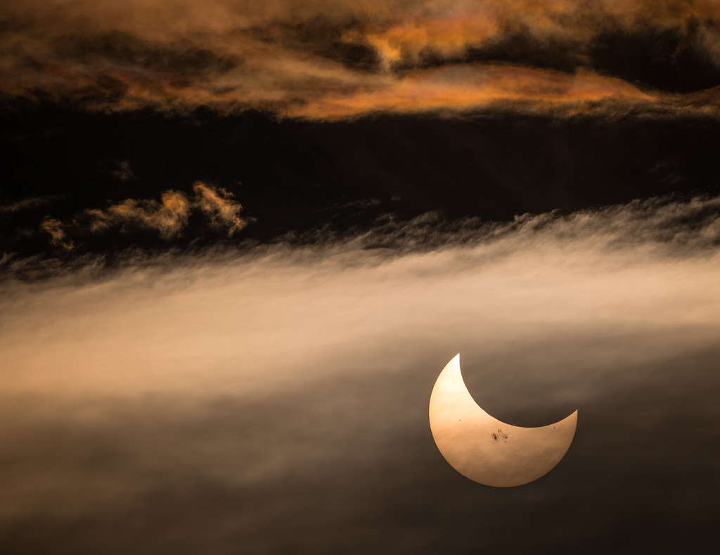 Moon shadow- Solar Eclipse 2014