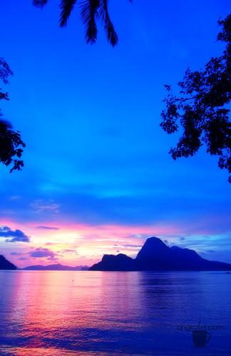 Sunset in Caalan Beach, El Nido, Palawan, Philippines
