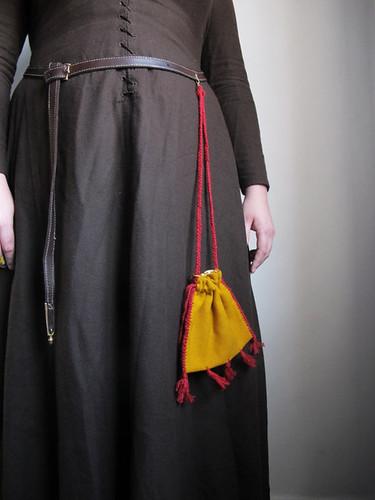 Medieval textile purse - 31
