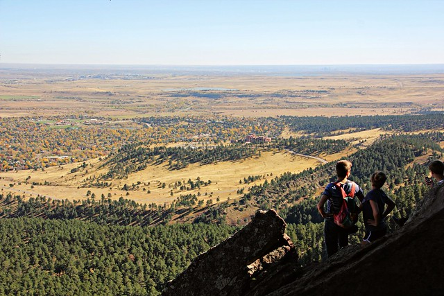 View from Boulder Flatirons towards Golden
