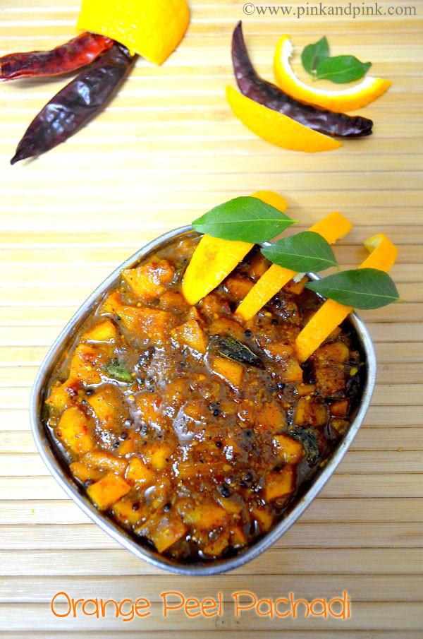 Orange peel recipes