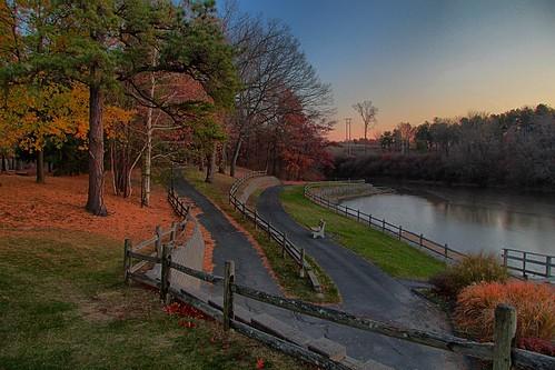 park autumn sunset canon landscape pond hdr highdynamicrange cookpark canont4i