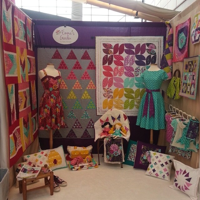Patty Sloniger's Spring Quilt Market booth