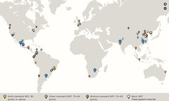 ITDP BRT map