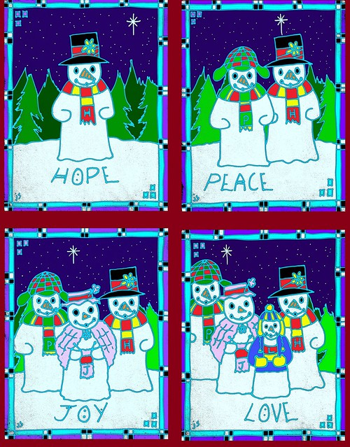 Advent Covers Snowmen