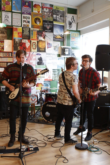 Icelandic band Rythmatik perform at Lucky Records for Iceland Airwaves Off Venue Program