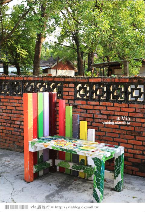 【台中霧峰景點】台中光復新村~可愛的造型椅林立、讓老眷村重新充滿新活力!38