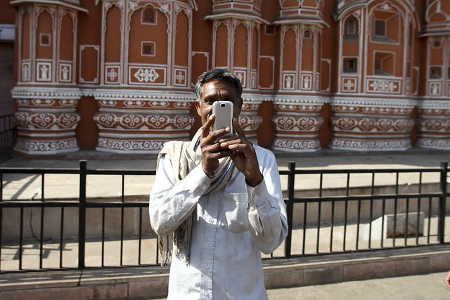 Aam admi clicking a picture