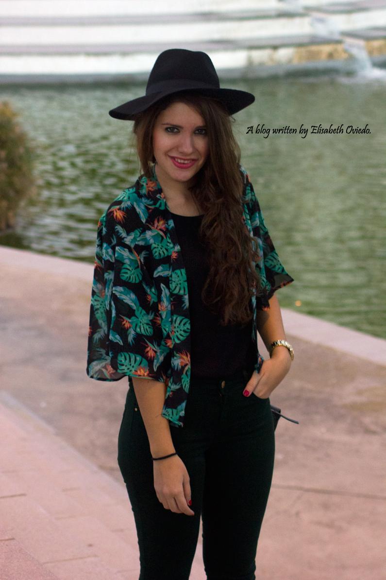 pantalones verde botella botines negros flecos MARYPAZ OASAP (1)