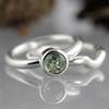 Green Montana Sapphire Wedding Set