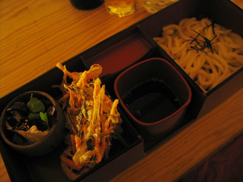 Part of the Itadaki Course at Itadaki Zen vegan Japanese restaurant, King's Cross, London