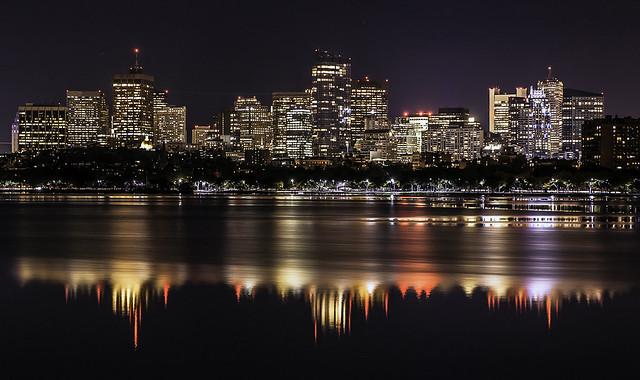 Boston skyline as seen, Canon EOS 5D, Tamron SP AF 90mm f/2.8 Di Macro