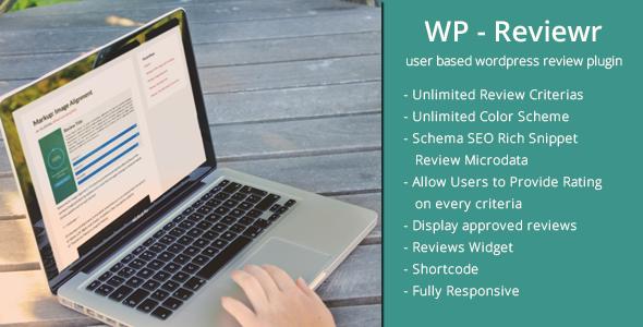 WP Reviewr Pro v1.4 - User Based Review Plugin