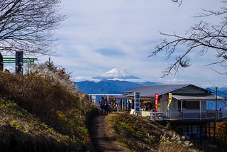 雲がかかった富士山@陣馬山