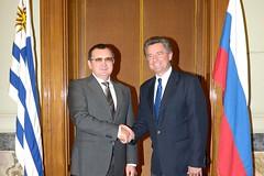 Н. Федоров и Председатель Палаты представителей Генеральной Ассамблеи Х. Амарилья