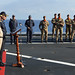 OPCDR and Commodore Toumia on board the Training Ships - EUNAVFOR MED