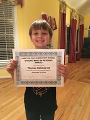 Birthday and reading award
