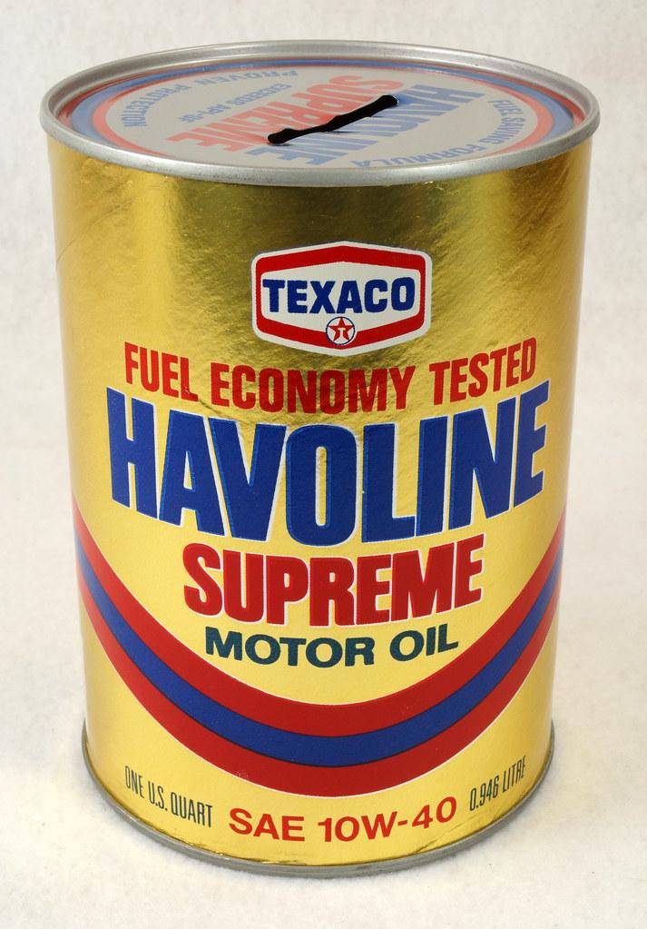 RD14906 Texaco Havoline Supreme Motor Oil Can Coin Bank DSC06456