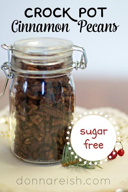 Sugar-Free Crock Pot Cinnamon Pecans