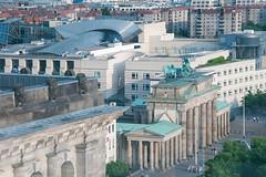 Brandenburg gate from the Reichstag
