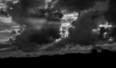 vibrant blk wht clouds