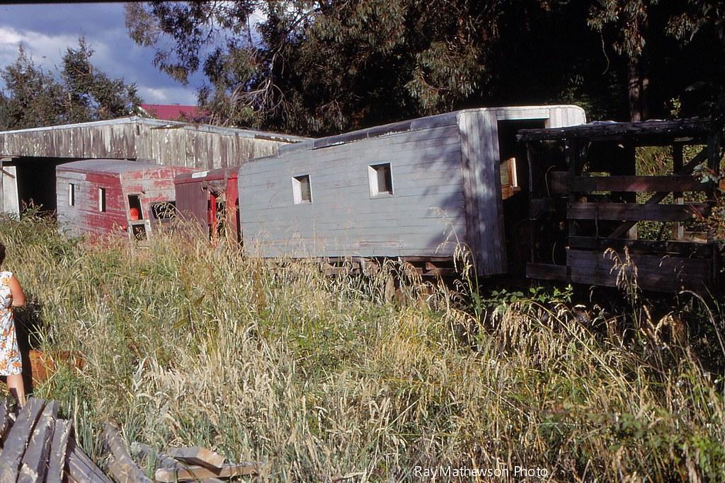 Abandoned railcars Jan 1970 Te Whetu