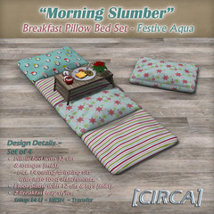 "@ Winter Trend ~ [CIRCA] - ""Morning Slumber"" - Breakfast Pillow Bed Set - Festive Aqua"