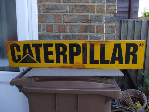 Vintage Caterpillar Dealership Advertising Sign