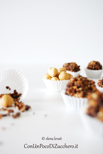 Nougatine and hazelnuts