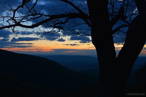 sunset virginia scenic shenandoah blueridge silouhette skylinedrive nikond3200