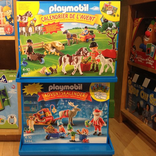 Playmobil advent calendars. Love these. (Find them at Tiggy's!)
