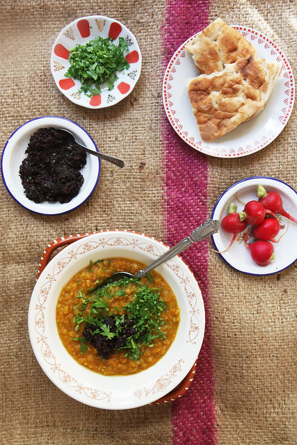 Roasted Pumpkin and Carrot Red Lentil Daal by Olga Irez