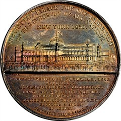 Silver 1853 Crystal Palace Medal reverse