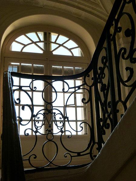 escalier chateau villandry
