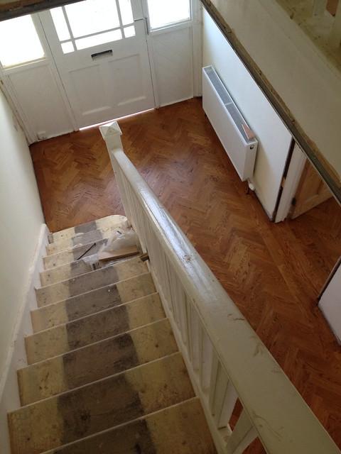 Parquet Floor in Hallway