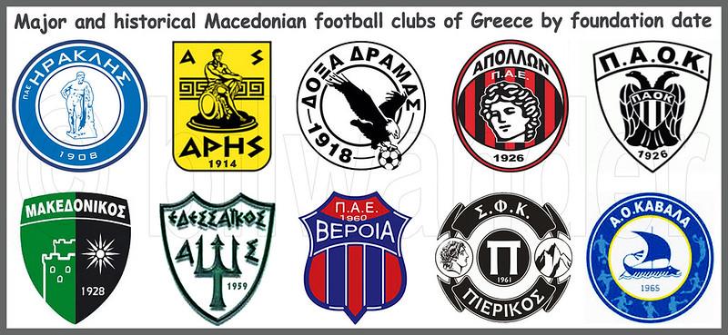 Macedonia, major & historical Macedonian Football Clubs, Greece #Μacedonia