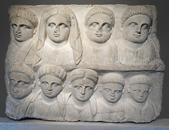 Greece, Macedonia, Kavala, funerary relief of a family, early 2nd c CE
