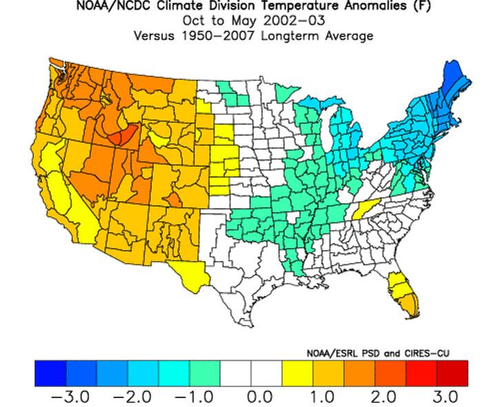 2002-03 Temperature Anomalies