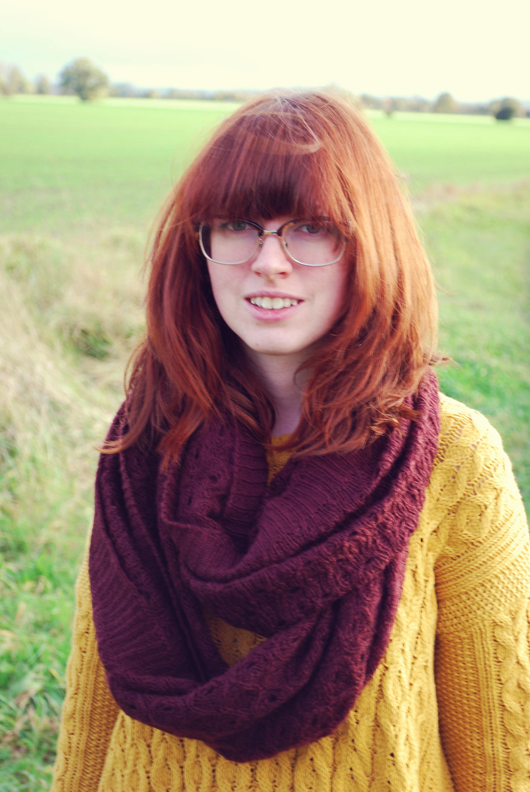 Ginger woman in England