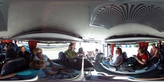 360 degree view inside the Key Tours bus to Cape Sounion | #TBEX