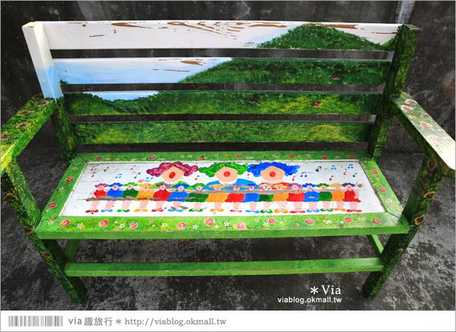 【台中霧峰景點】台中光復新村~可愛的造型椅林立、讓老眷村重新充滿新活力!26