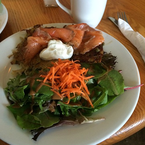 Latkes and gravlax at Mill Creek Cafe #yegfood