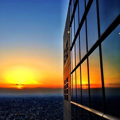 #sunset over #tokyo