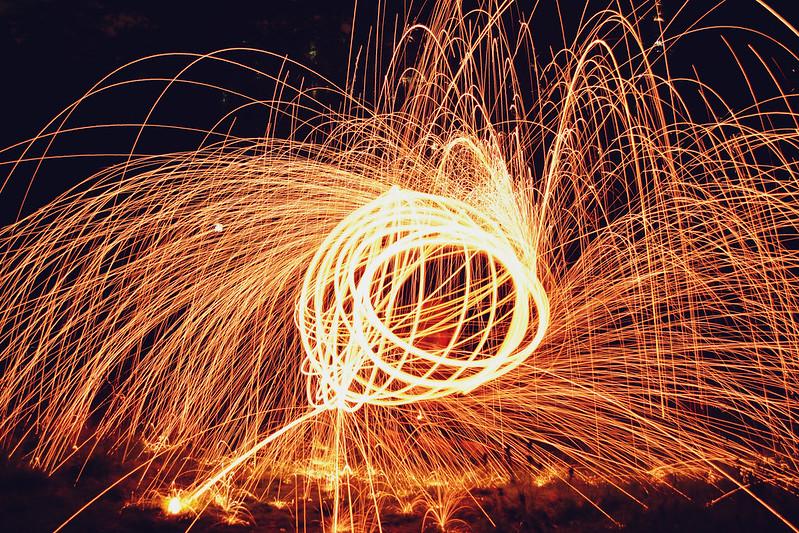 Steel Wool Spinning 1