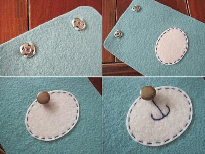 Cách làm bao đựng Điện Thoại bằng vải Nỉ, Dạ | Handmade 2