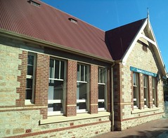 Mount Barker School.  Opened 1877 on Adelaide Road. Closed 1967 as school moved to another site. Now a restored real estate office.